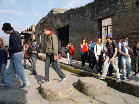 Les élèves a Pompeï