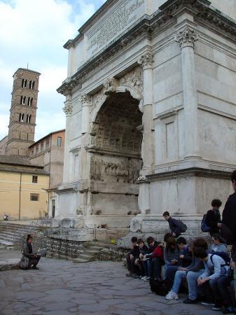 L'arc de triomphe de Rome