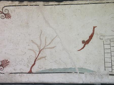 Paestum, la tombe du plongeur.